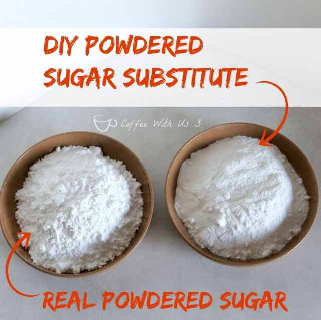 can you substitute powdered sugar for granulated sugar