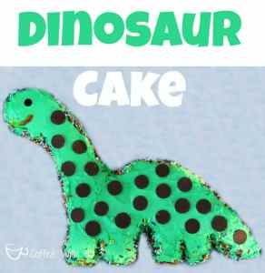 DIY Dinosaur Cake featured