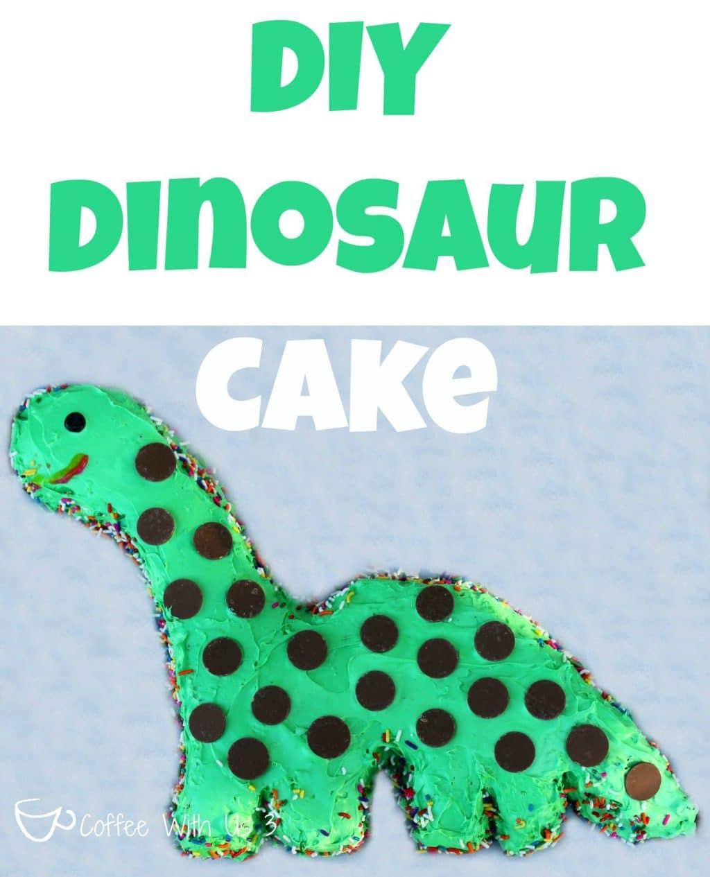 How To Make An Easy Dinosaur Cake