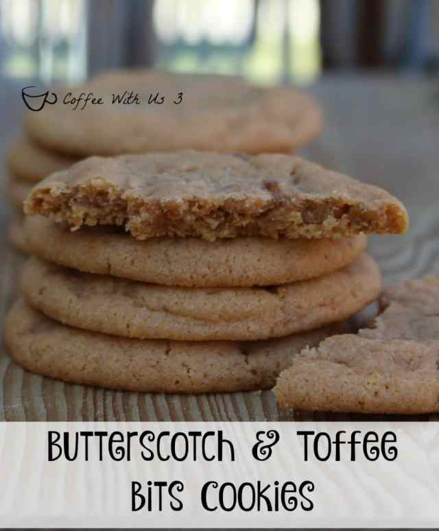 Butterscotch with Toffee Bits Cookies are a fantastic flavor combination in these delicious & chewy cookies.