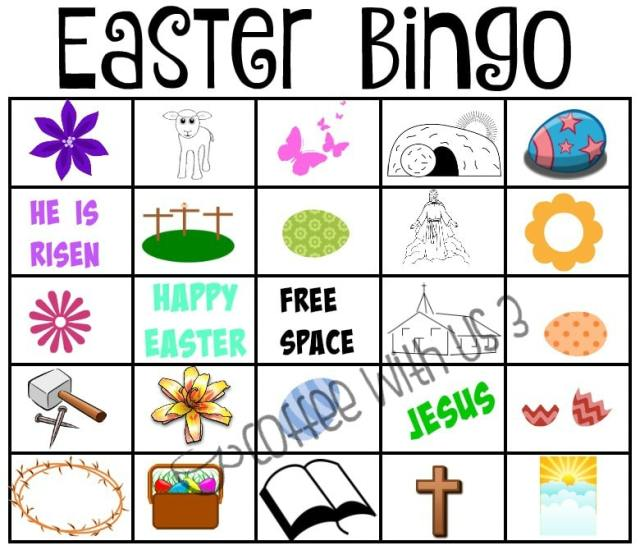 It is a picture of Challenger Printable Easter Bingo Cards