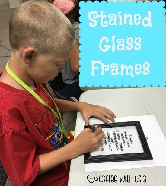 Stained Glass Frames - Writing the Verse