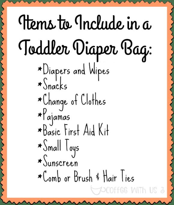 Toddler Diaper Bag