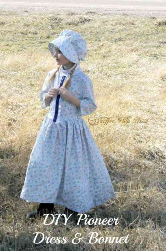 Have a Little House on the Prairie fan on your hands? Sew a Pioneer Dress so she can pretend to be Laura, Mary, or Ma! Pattern information included.