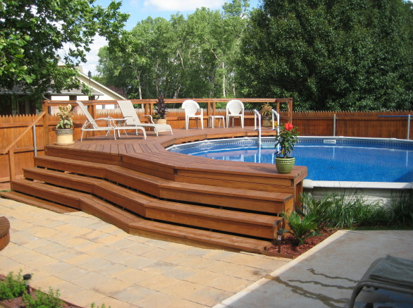 Above Ground Pools And Decks Pictures Pool Design Ideas