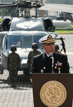 Mexico's Secretary of the Navy, Admiral