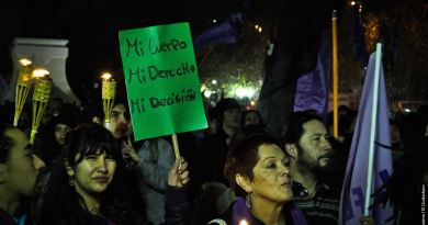 Protest in Chile pro-abortion