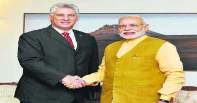 India and Cuba can do business together. The First Vice President of Cuba, Miguel Diaz-Canel with Prime Minister Narendra Modi during his recent visit to New Delhi. PTI
