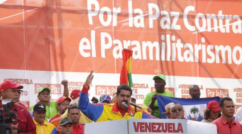 Source: Venezuelan government  http://cojedes.gob.ve/blog/2015/08/29/asi-transcurrio-la-marcha-contra-el-contra-el-paramilitarismo/