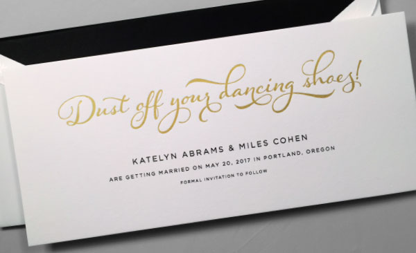 It\u0027s All in the Details Wedding Save-the-Dates \u2013 Custom Wedding