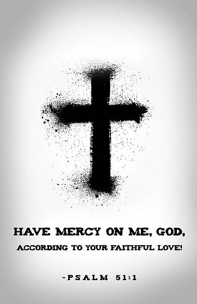 Have Mercy Ash Wednesday Bulletin (Pkg of 50) Cokesbury - free black and white bulletin covers