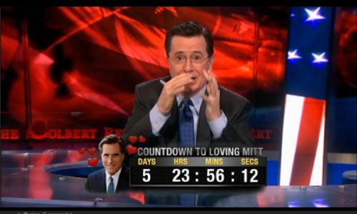 Stephen's scared of Mitt