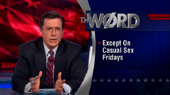 Stephen Colbert on women in the work place