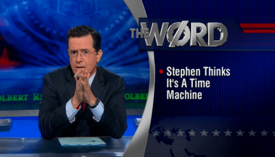 Stephen Colbert Time Machine