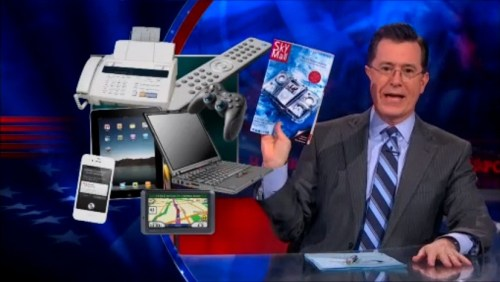Stephen Colbert admits to his gadget addiction