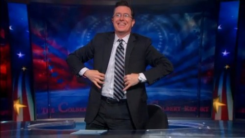 Stephen Colbert Standing