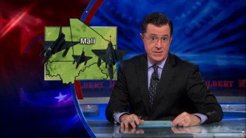Stephen Colbert Revealing that Mali is France's Afghanistan