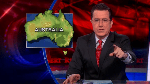 Stephen Colbert on Australian weather