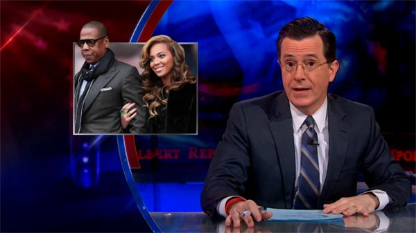 The Colbert Report on Beyonce and Jay Z