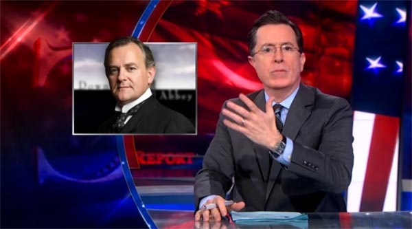 Stephen Colbert on Downton Abbey