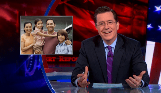 Hispanic Family on The Colbert Report