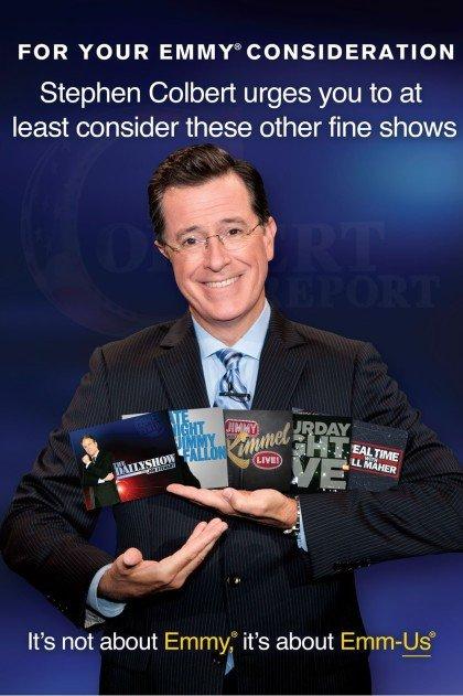 Stephen Colbert Emmy Consideration Advertisement