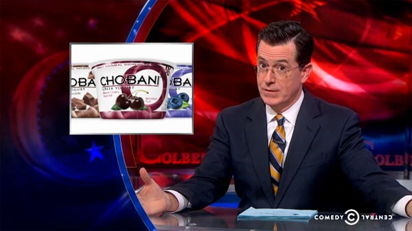 Stephen Colbert on Chobani ban in Russia
