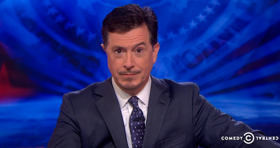 Stephen Colbert with facial hair