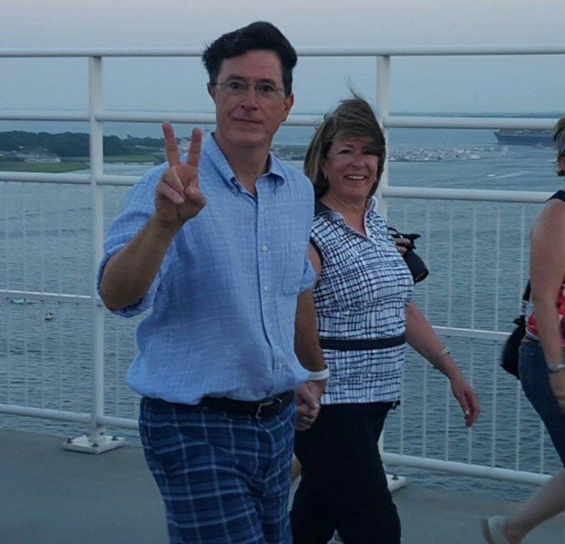 Stephen Colbert and Elizabeth Colbert Busch in Charleston