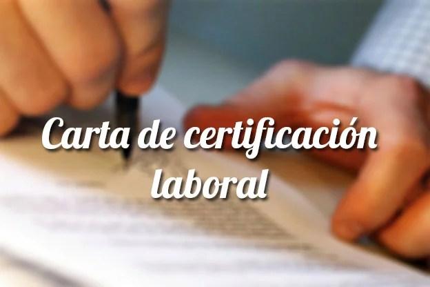 Carta de certificación laboral - Plantilla