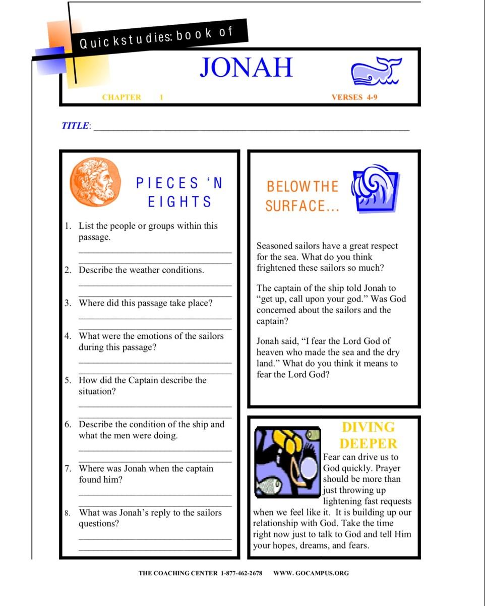 Jonah worksheet 2