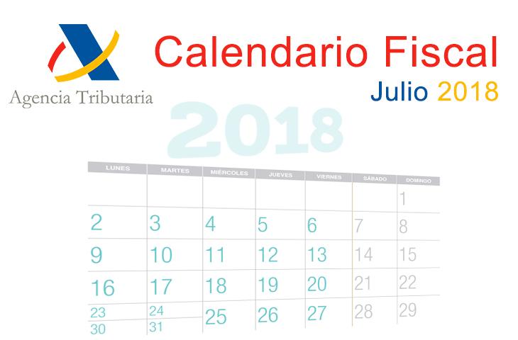 El ICOFCV informa calendario fiscal para julio de 2018 Ilustre