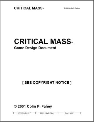 Critical Mass\ - design document