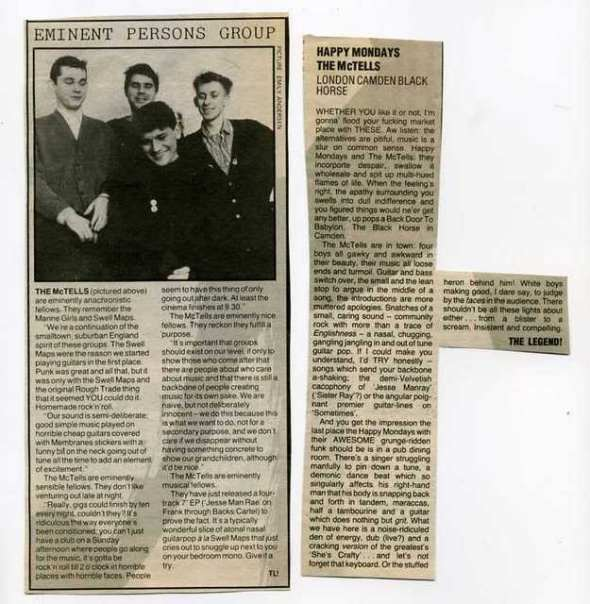 McTells press cuttings