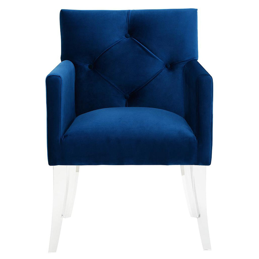 Lorraine Contemporary Blue Arm Chair Collectic Home