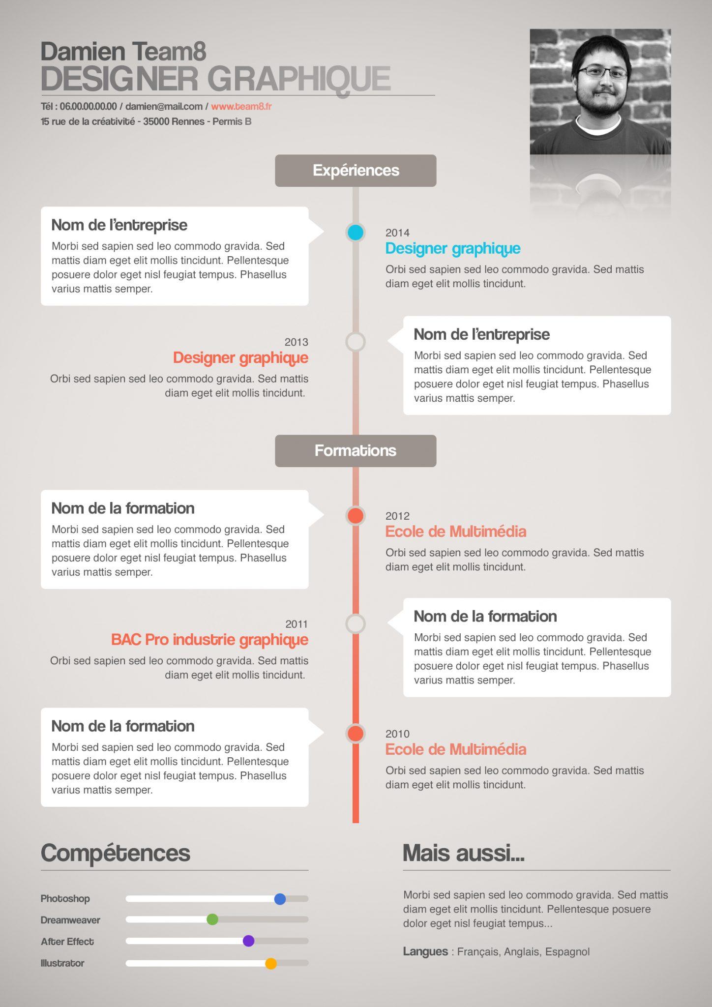 competences cv graphique