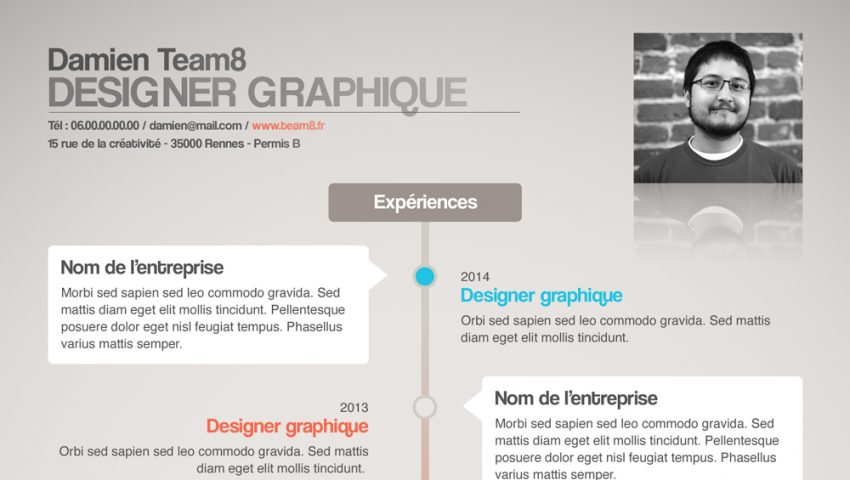 adobe illustrator cv template cours