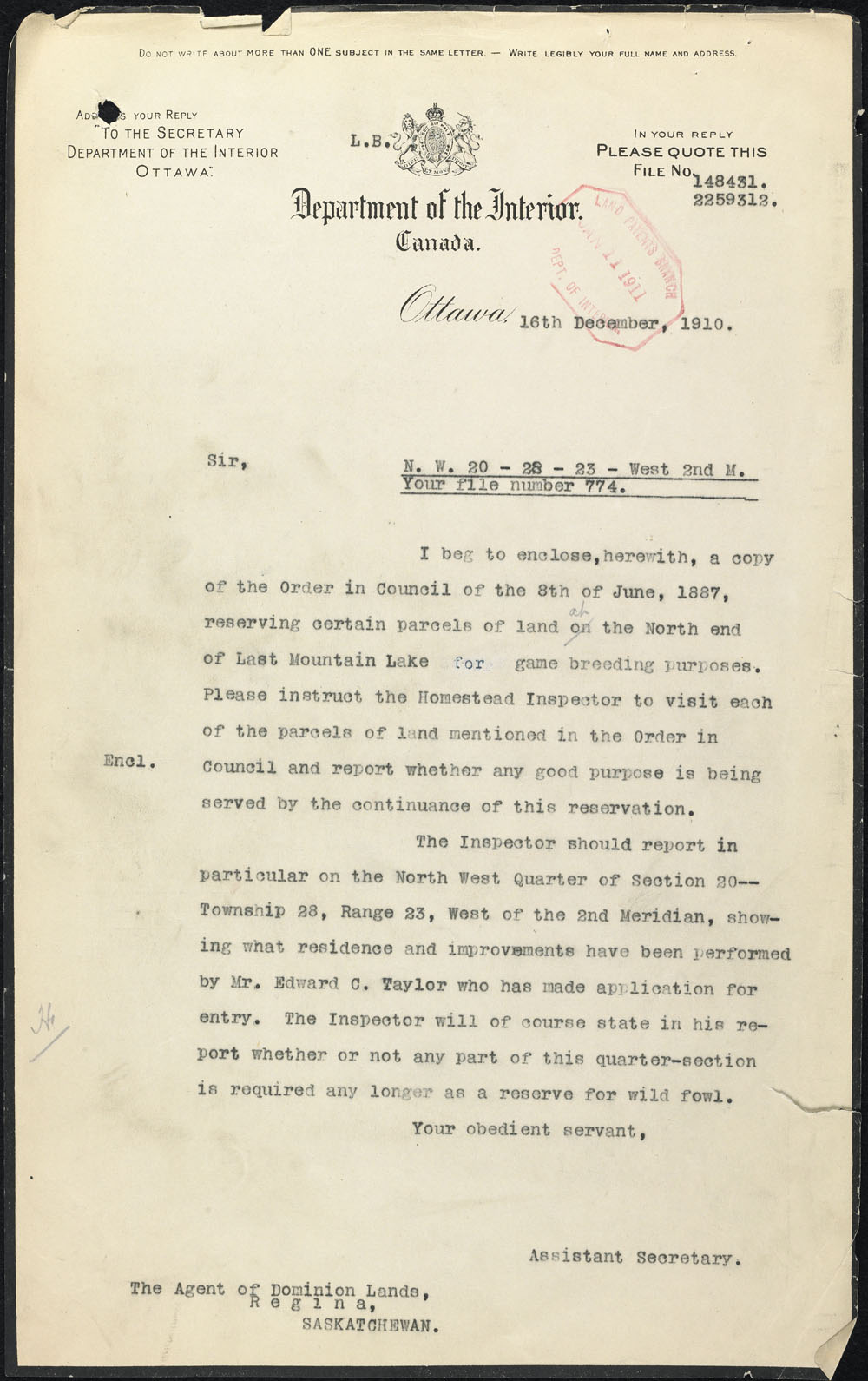 Letter Of Invitation Cicgcca Introduction M233;tis Scrip Records Library And Archives