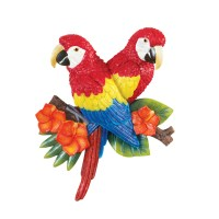 Tropical Parrot Hand-Painted Resin Wall Decor, by ...