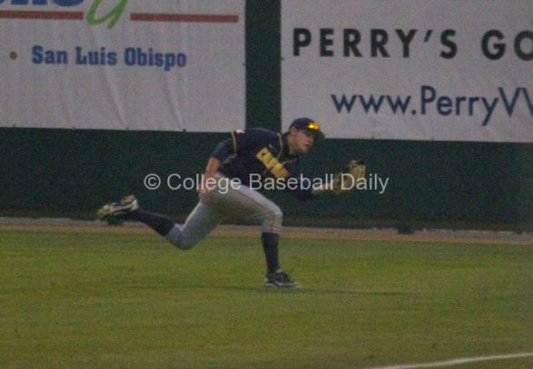 Brian Celsi saves a run with a diving catch down the line.