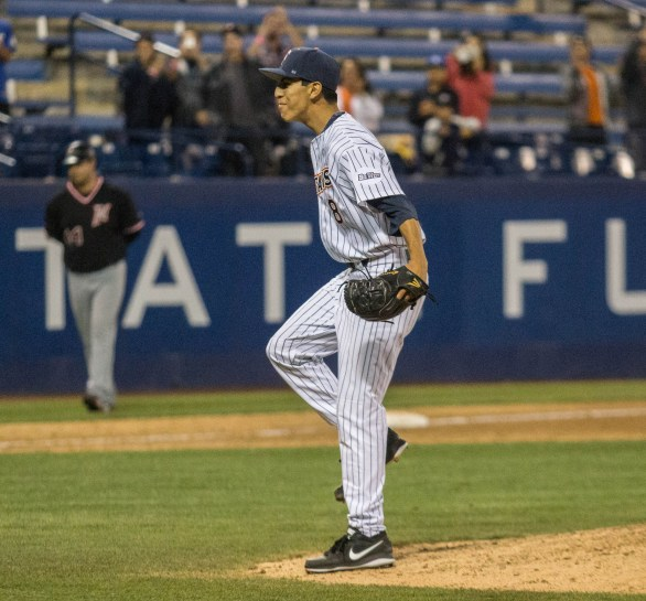 Justin Garza pitched the fourth no hitter in program history. (Photo: Mark Alexander)