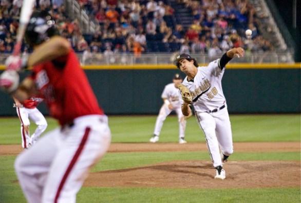 Jared Miller hit the only batter he faced. (Photo: Shotgun Spratling)