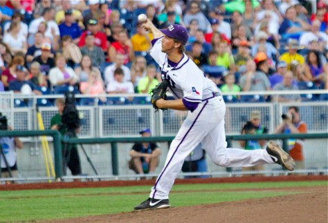 Jordan Kipper took the loss for TCU. (Photo: Shotgun Spratling)