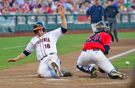 Nate Irving slides in with a run. (Photo: Shotgun Spratling)