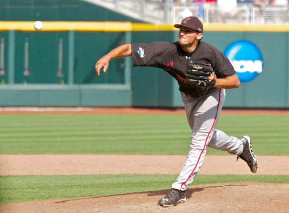 Dominic Moreno throws the final pitch. (Photo: Shotgun Spratling)