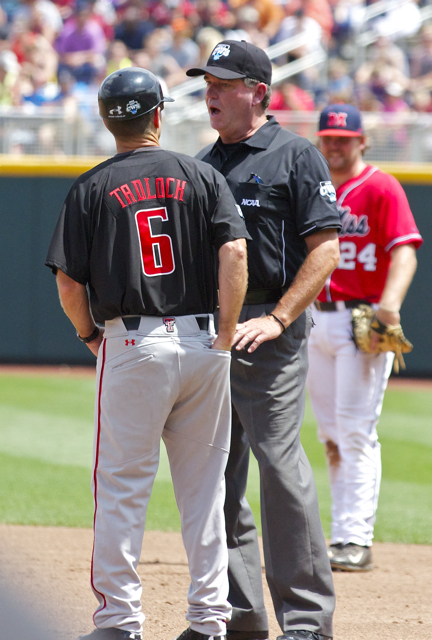 Mike Colin wants nothing to do with Tim Tadlock's argument. (Photo: Shotgun Spratling)