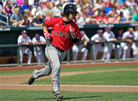 Adam Kirsch led Texas Tech with two hits. (Photo: Shotgun Spratling)
