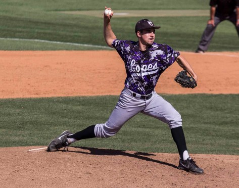 Coley Bruns throws a changeup. (Photo: Mark Alexander)