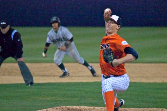 Thomas Eshelman pitched out of a big ninth-inning jam. (Photo: Shotgun Spratling)