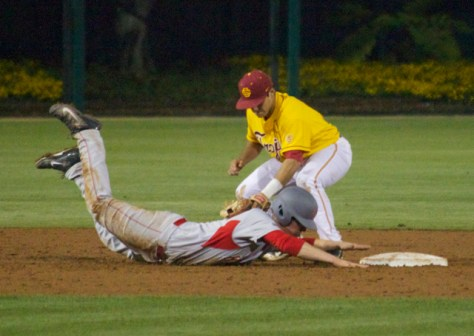 Somehow this Houston runner was called safe.